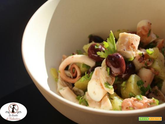 Insalata di polpo patate e olive taggiasche, con pentola a pressione elettrica