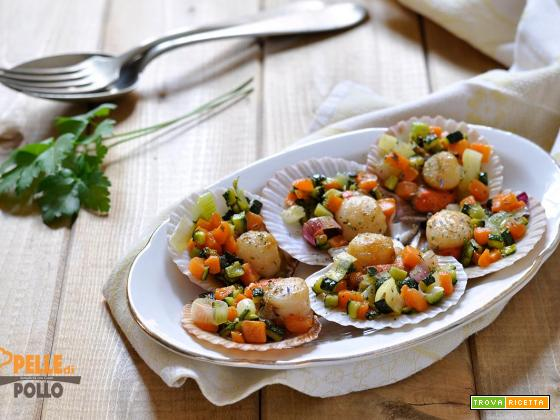 Canestrelli con verdure saltate in padella