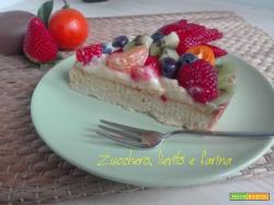 Crostata con frangipane, crema e frutta