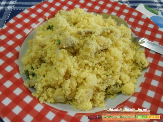 Cous cous di mais senza glutine light alle melanzane