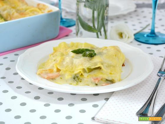 Lasagne agli asparagi e salmone