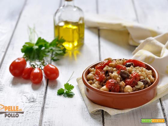 Insalata di farro con ceci e pomodorini