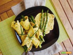 Crêpes salate con asparagi
