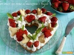 Tart cream con crema al mascarpone e fragole