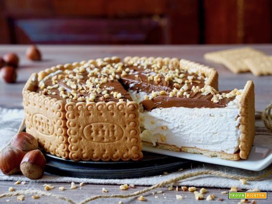Torta di Biscotti al Mascarpone e Nutella