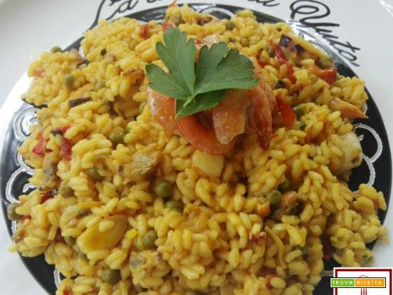 Paella di pesce (paella de marisco)