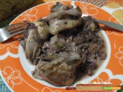 Pollo con radicchio e gorgonzola