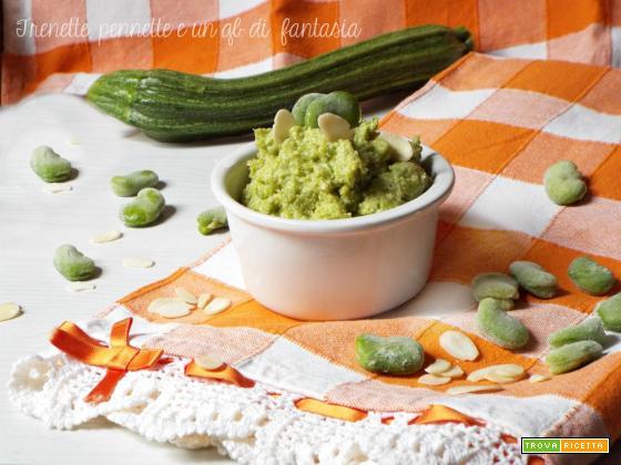 Pesto di fave e zucchine