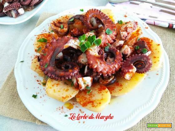 Polpo alla gallega o galiziana piatto spagnolo