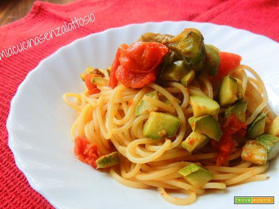 Spaghetti bottarga e fiori di zucca