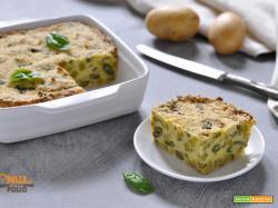 Polpettone di patate e fagiolini al forno