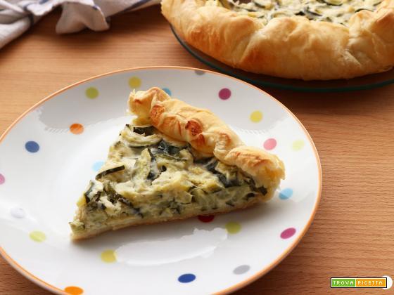 Torta rustica zucchine e robiola senza uova