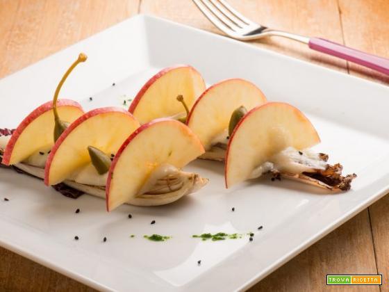 Insalatina croccante di radicchio con sedano rapa e mela