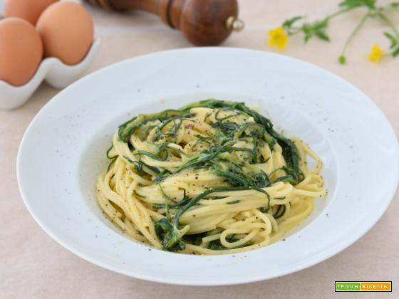 Carbonara di agretti (barba di frate)