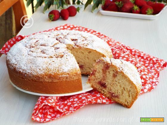 Torta morbida con marmellata di fragole