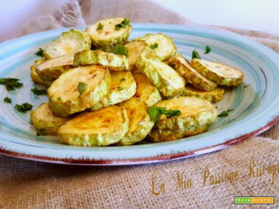 Zucchine fritte in friggitrice