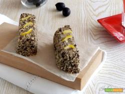 Mini plumcake alle olive ripieni di gelato al tonno
