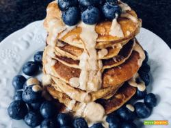 Pancakes proteici alle patate dolci