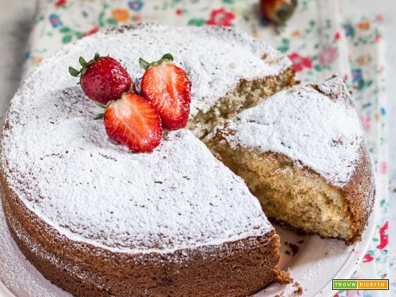 Hot milk sponge cake (torta al latte caldo senza burro)