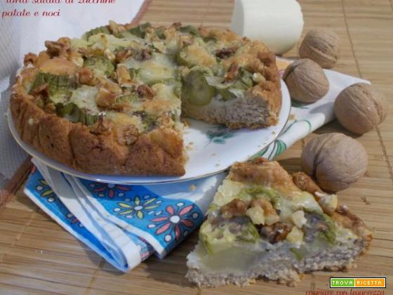 Torta salata di zucchine patate e noci