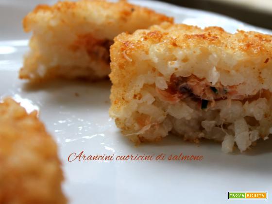 Arancini cuoricini di salmone