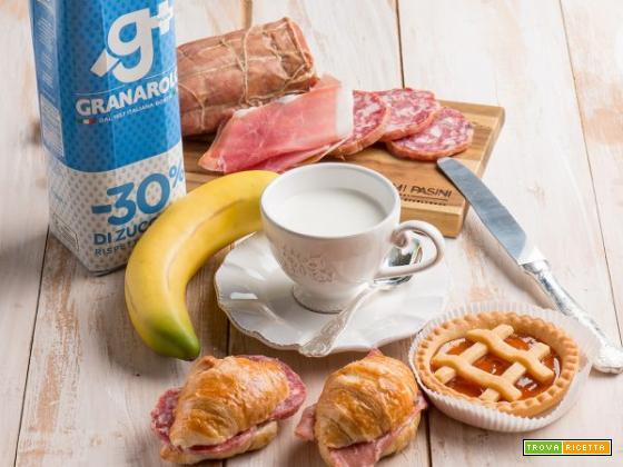 Crostatine con marmellata di arance e latte per colazione!