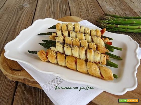 Asparagi in crosta di pasta sfoglia