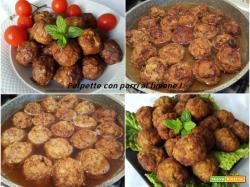 Polpette ai porri con limone, salsa di pomodoro e riso