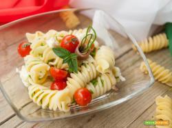 Fusilloni all'italiana con ciliegini, bufala e basilico
