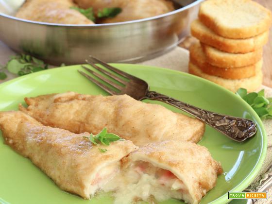 Tasche di Pollo ripiene di Gorgonzola e Prosciutto Cotto