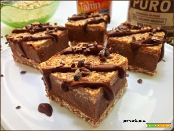 Barrette Gelato di Avena Senza Cottura ripiene di Tahin e Cioccolato