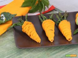 Carote di brisée ripiene di crema agli asparagi: un tocco di raffinatezza