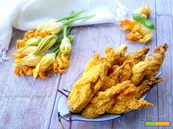 Fiori di zucca ripieni di riso