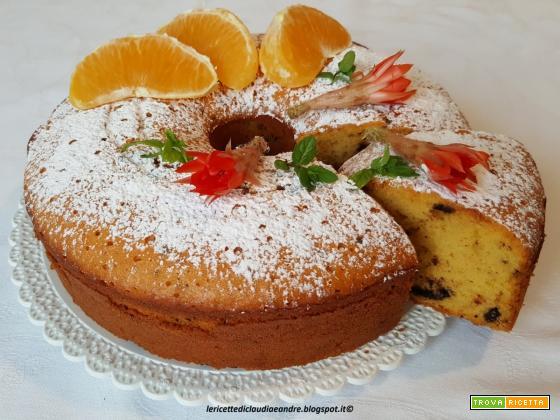 Chiffon cake allo sciroppo di arancia e cioccolato