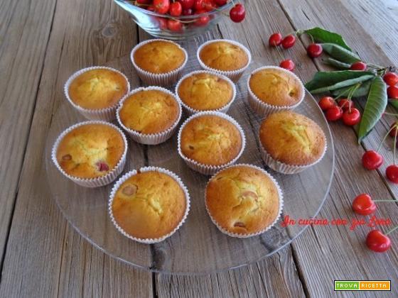 Muffin con ciliege ricetta semplice