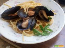 Spaghetti con cozze e pelati