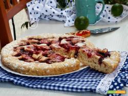 Crostata morbida ciliegie e lamponi