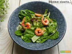Insalata di asparagi e gamberetti