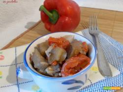 Melanzane e peperoni in padella