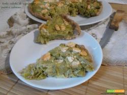 Torta salata di asparagi porri e salmone