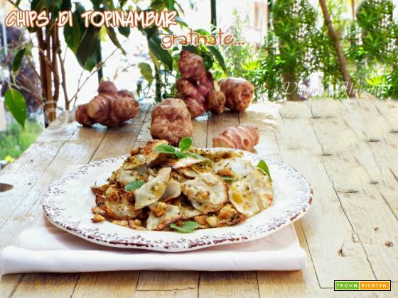 Chips di topinambur gratinate