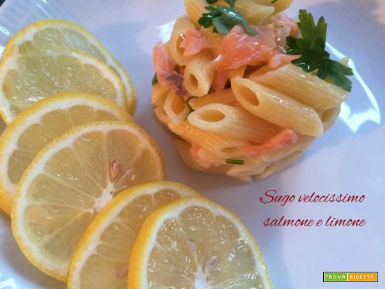 Condimento velocissimo salmone e limone