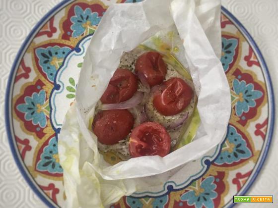 Filetto di tonno fresco al cartoccio , ricetta facile