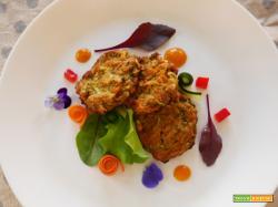 Vegan Polpette di Carote, Zucchine,Peperone rosso con farina di Lenticchie rosse e farina di Ceci