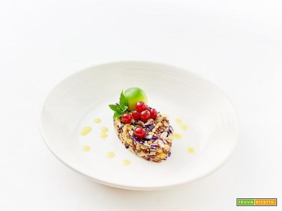 riso rosso, lenticchie e quello che c'è