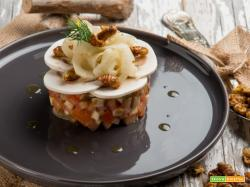Insalatina di pomodori concassé con baco da seta: un tesoro di gusto