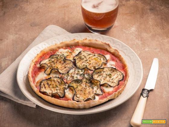 La bontà della pizza con farina di quinoa e melanzane!