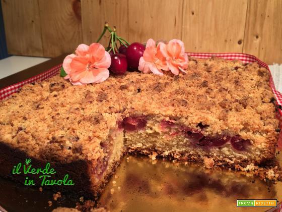 Crumble cake – Torta sbriciolata alle ciliegie