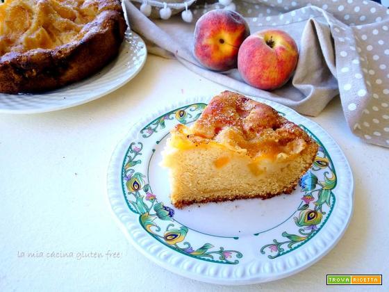 Torta con pesche e mele senza glutine