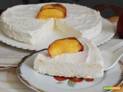 Torta gelato alle pesche
